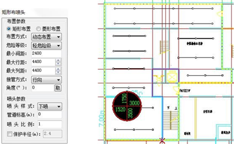 CAD教程:如何在给排水CAD图纸中绘制矩形喷头?