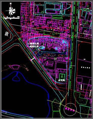 建筑CAD图纸下载之地城市规划设计图