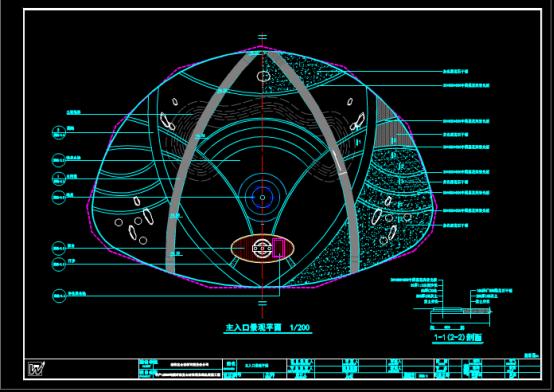 CAD绘制景观设计图之某研发区景观施工图