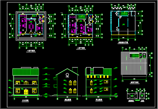 某别墅设计的建筑CAD图纸下载资源