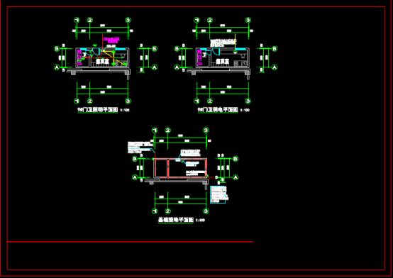 某电气设计项目的CAD建筑图纸下载素材
