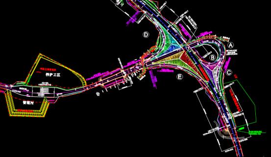某总体设计项目的路桥设计CAD图纸