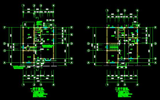 某住宅设计图的结构设计CAD图纸查看方法