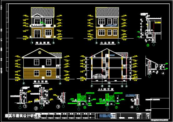 某住宅设计方案的建筑CAD图纸下载素材