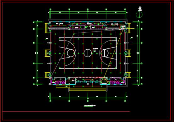 某操场电气设计图的CAD建筑图纸下载资源