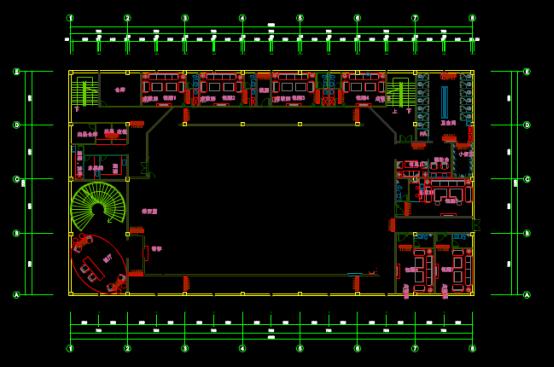 包厢设计的CAD绘制室内设计图纸下载