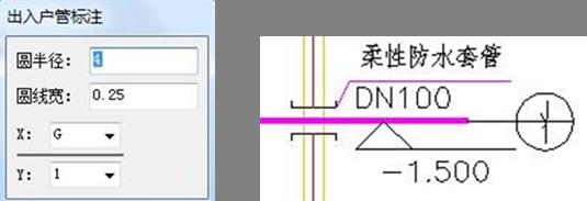 CAD中怎么标注入户管道?