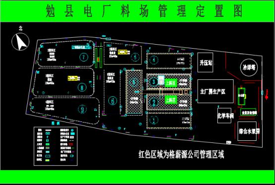 电厂料场布置图的CAD图纸下载资源