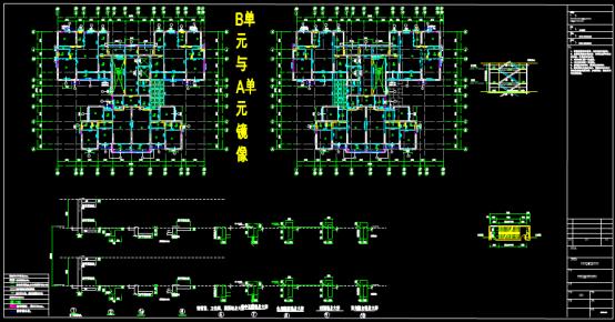 某小区单元楼房的深化设计CAD图纸