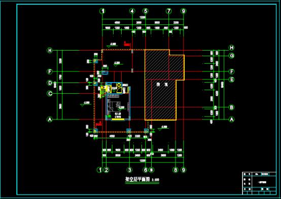 某小区别墅建筑设计方案的CAD图纸下载