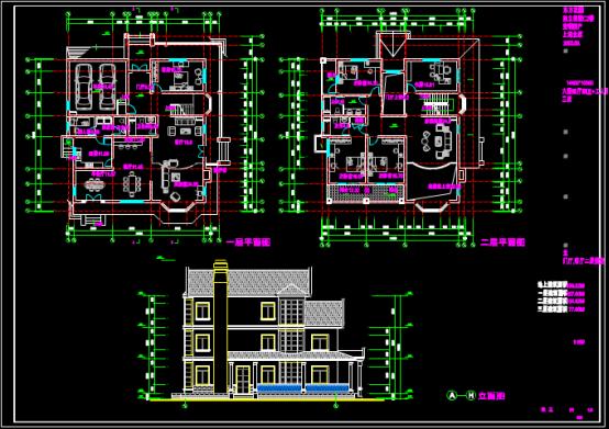 某别墅房屋平面设计CAD图纸学习参考