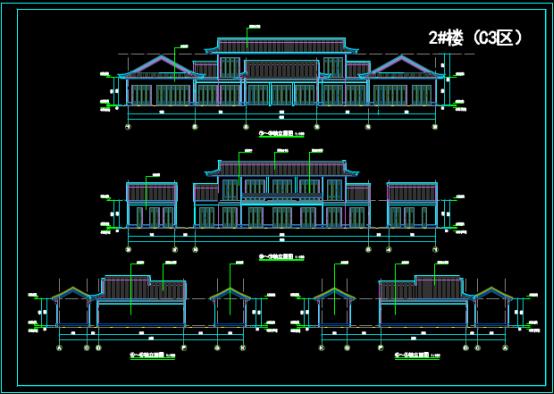 建筑单体设计的CAD下载图纸资源