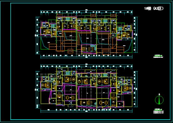 某建筑单体设计方案的CAD图纸查看