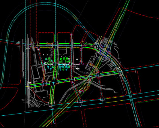 路桥设计的道路分布CAD图纸学习借鉴