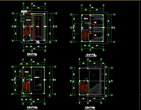 某地垃圾中转站的工程电气CAD图纸下载