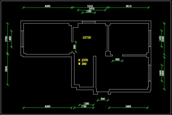 某小区毛坯房户型设计CAD图纸