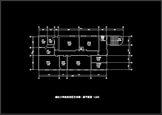 某学校教学楼CAD图纸查看过程