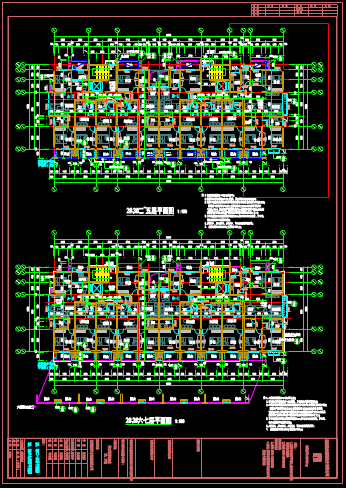 楼房平面布置CAD图纸资源下载