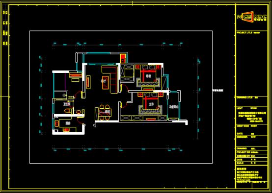 房屋室内布置CAD图纸下载