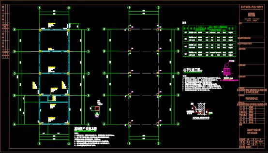 某配电房结构设计CAD图纸绘制