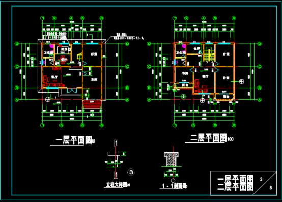 小别墅CAD平面设计图纸下载