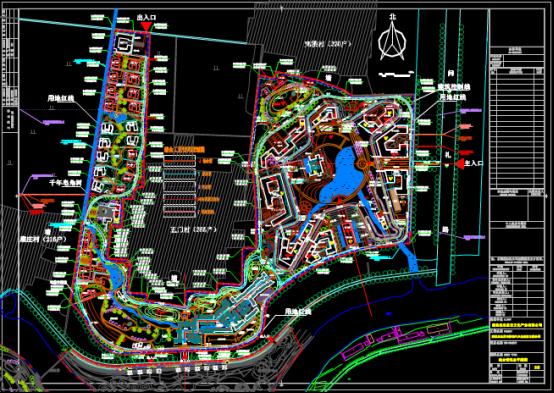 公园综合管线布置CAD图纸查看