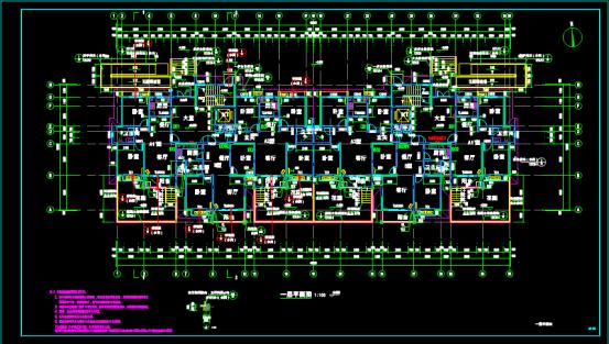 楼房一层平面CAD图纸下载资源