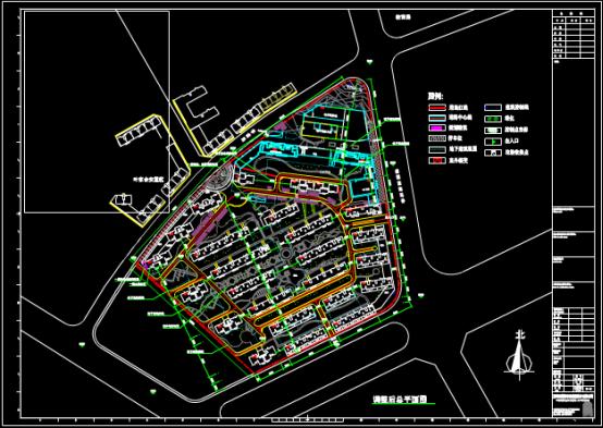建筑调整设计总平面CAD图纸的学习借鉴