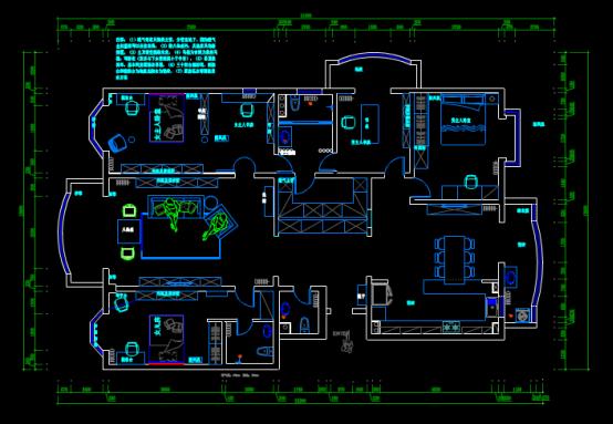 别墅室内平面布局CAD图纸下载资源