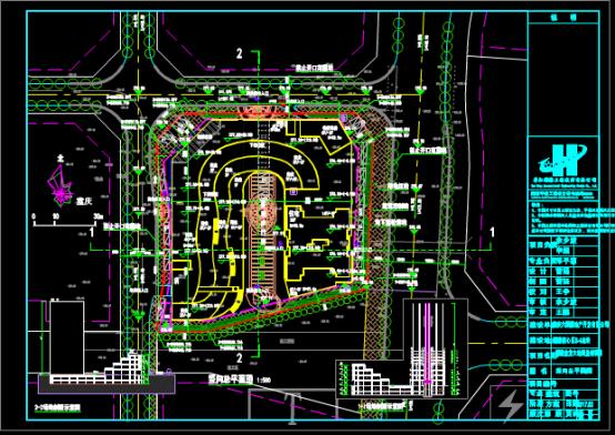 商业建筑的竖向总平面CAD图纸借鉴