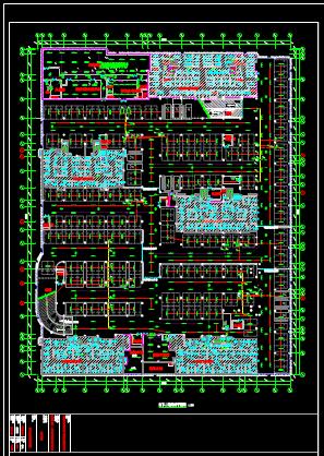 地下二层车库照明平面CAD图纸下载