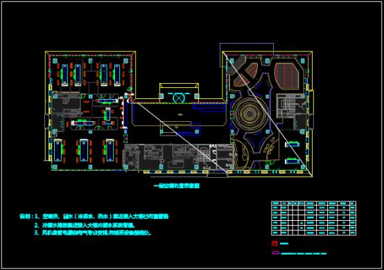 建筑一层空调布置示意CAD图纸绘制方法
