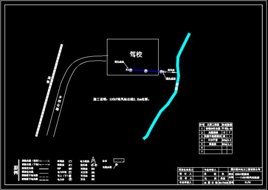 驾校抢修站平面布置CAD图纸设计