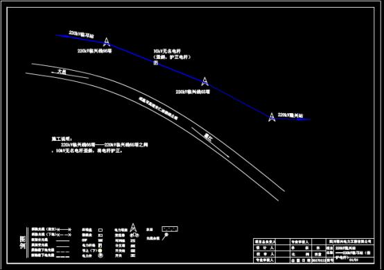 地区电缆设计布置CAD图纸查看