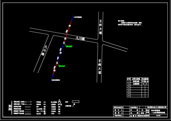 某地变电站抢修设计CAD图纸的设计方案
