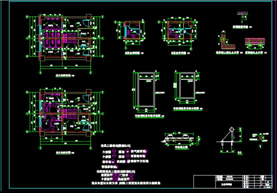 卫生间详图设计CAD图纸下载
