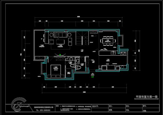 店铺装潢平面布置CAD图纸