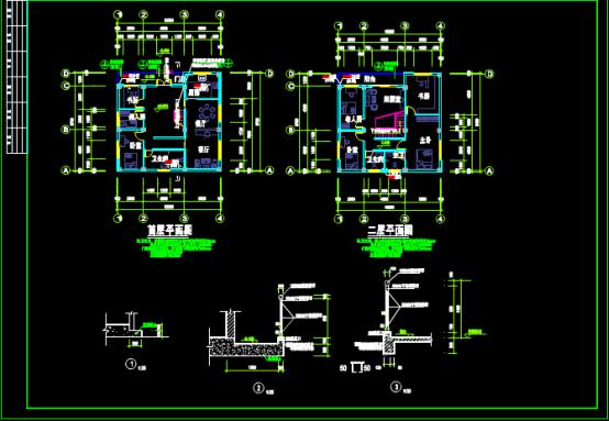 别墅首层平面CAD图纸下载资源