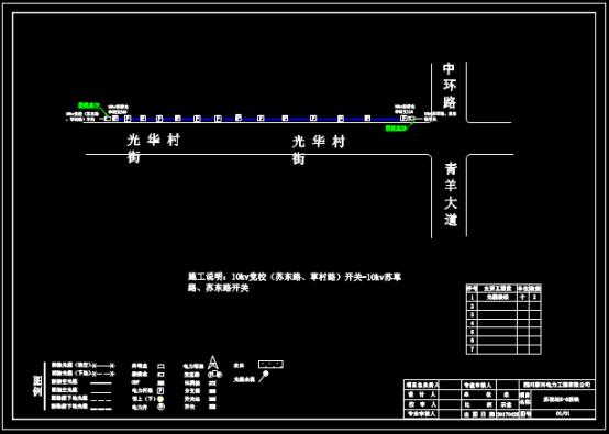 变电站电缆设计CAD图纸下载
