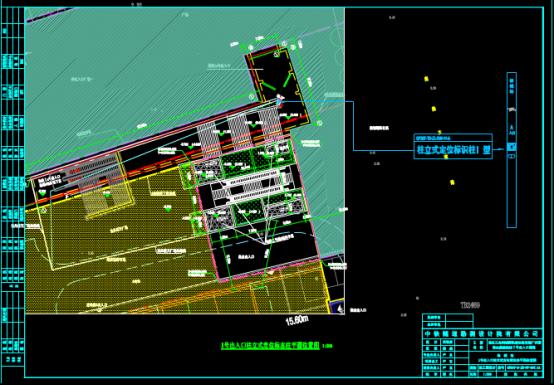 轨道站台柱平面布置CAD图纸下载