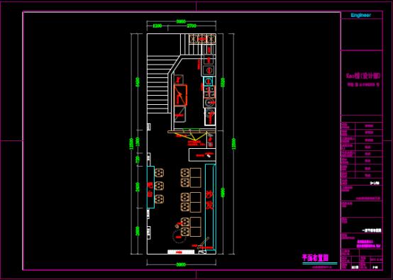 德州店铺平面布置CAD图纸下载