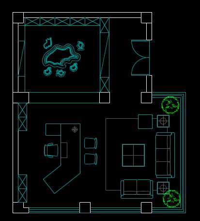 小区户型平面布置CAD图纸学习参考