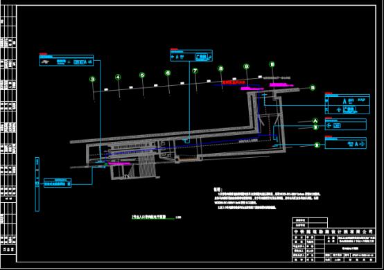 出入口导向配电平面CAD图纸下载