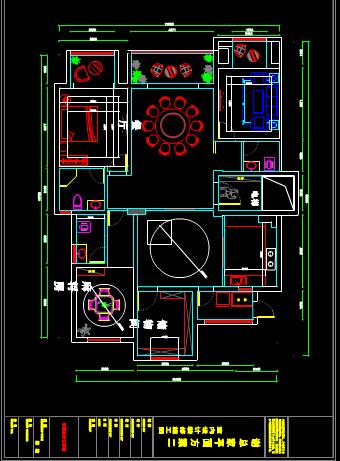 办公室CAD建筑装饰图纸下载