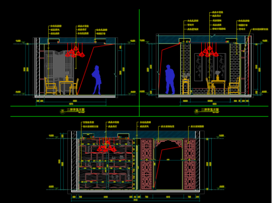 楼房三层立面CAD图纸的设计方案