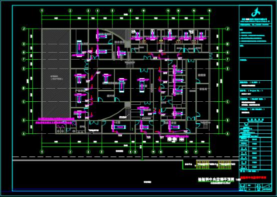 中央空调通风设计CAD图纸下载