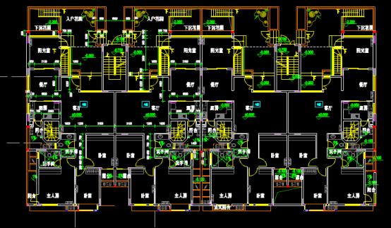 楼栋首层平面CAD图纸查看