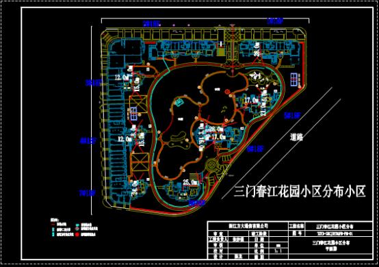 小区分布平面CAD图纸下载资源