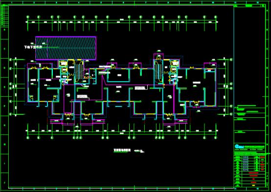 建筑首层弱电平面CAD图纸查看