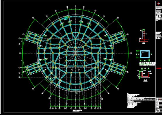 礼堂结构设计CAD图纸下载